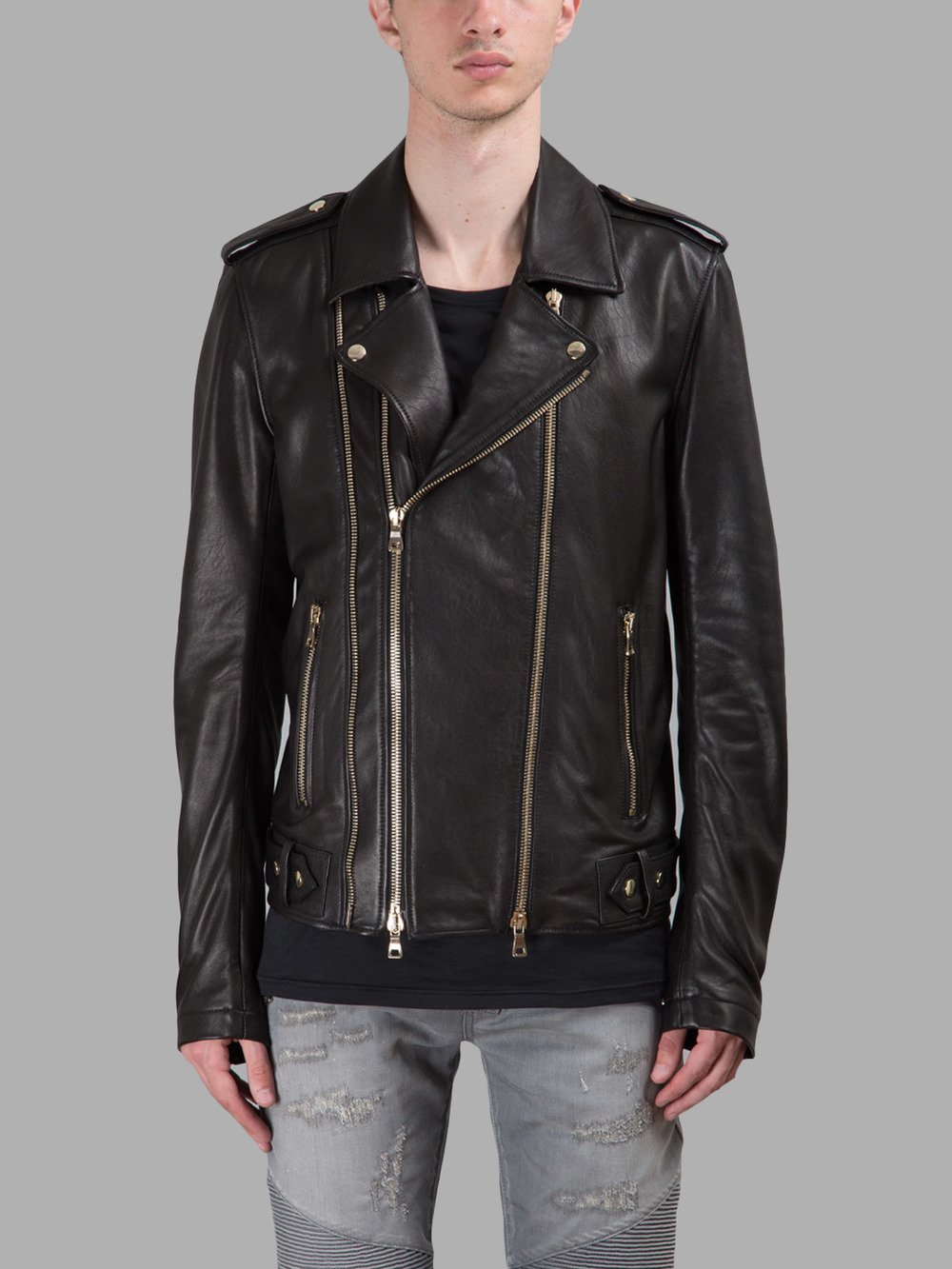 BALMAIN LEATHER JACKETS